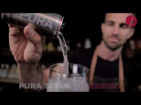 Pura Soda Cranberry - 24 x 330ml