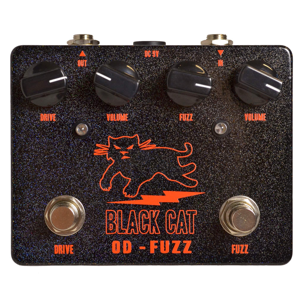Black Cat Germanium OD-Fuzz Stomp Box, Black Cat, Sounds Great Music