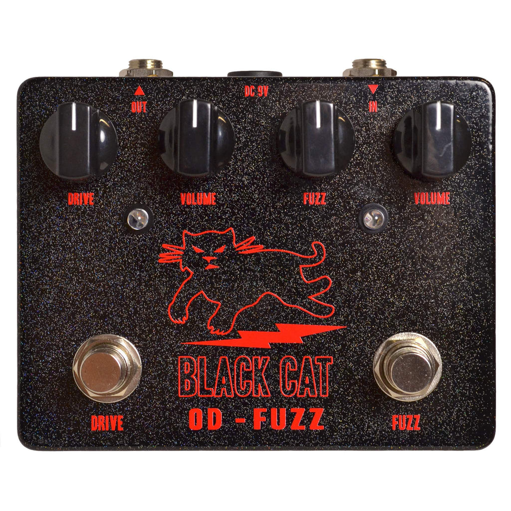 Black Cat OD-Fuzz Hybrid Stomp Box, Black Cat, Sounds Great Music