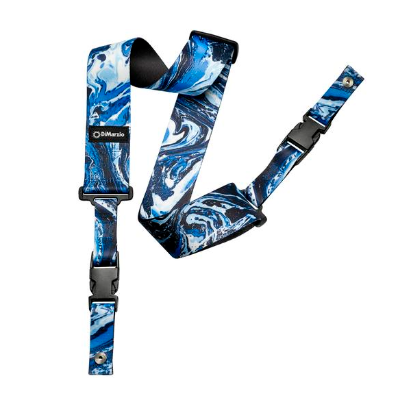 Dimarzio Steve Vai ClipLock Blue Universe DD2240 Guitar Straps, DiMarzio, Sounds Great Music