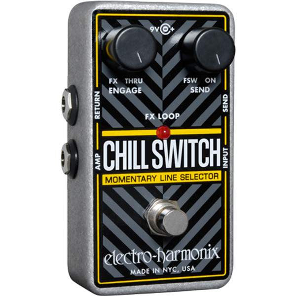 Electro Harmonix Chillswitch Momentary Line Selector Stomp Box, Electro Harmonix, Sounds Great Music