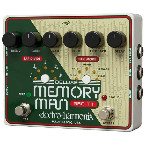 Electro Harmonix Deluxe Memory Man Tap Tempo 550 - Stomp Box - Electro Harmonix - Sounds Great Music