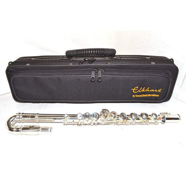 Elkhart 100FLAP Apprentice Curved Headed Flute Outfit Flutes, Vincent Bach, Sounds Great Music