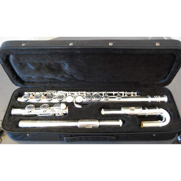 Elkhart 101FLU Curved / Straight Headed Flute Outfit by Vincent Bach Flutes, Vincent Bach, Sounds Great Music