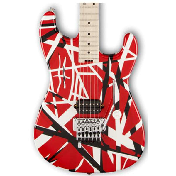 EVH Striped Series Red Black White Electric Guitar, EVH, Sounds Great Music