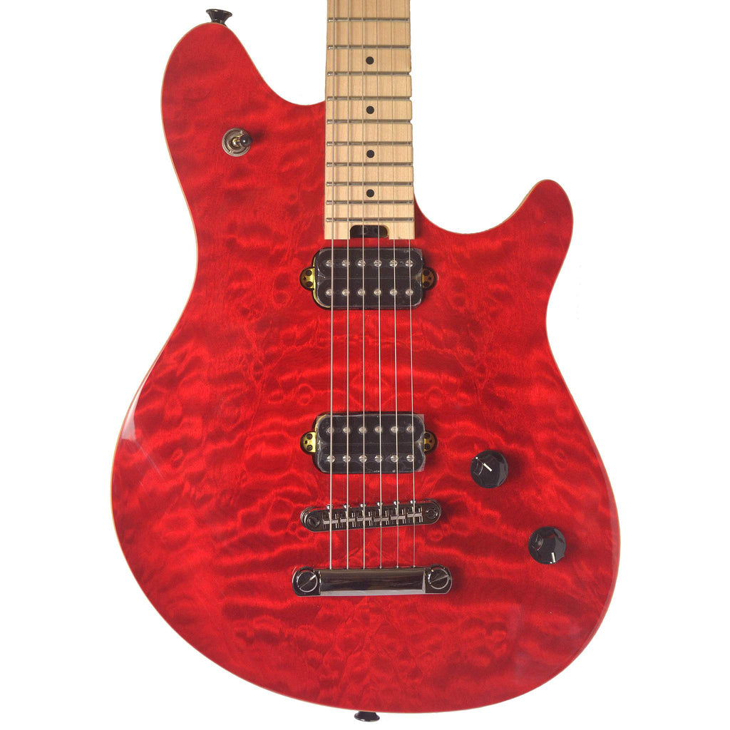 EVH Wolfgang WG-T Standard Maple Fingerboard QM Trans Red Electric Guitar, EVH, Sounds Great Music