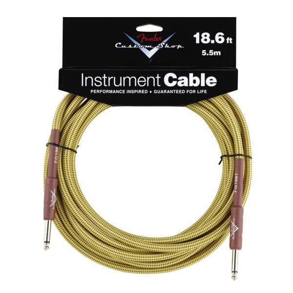 Fender Custom Shop Instrument Cable 18.6Ft Straight Tweed FG186T Cable, Fender, Sounds Great Music