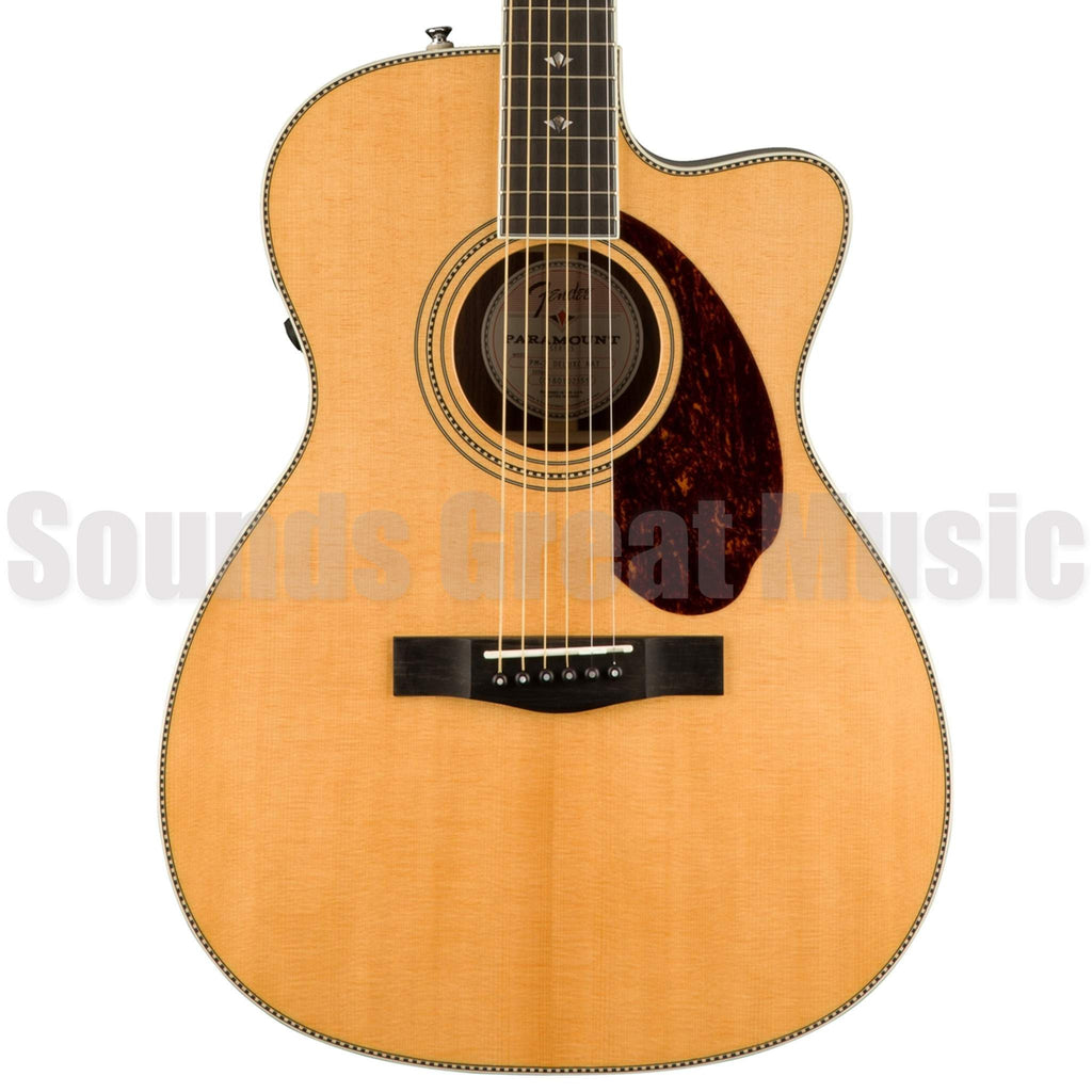Fender PM-3 Deluxe Triple O Natural Acoustic Guitar, Fender, Sounds Great Music