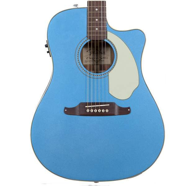 Fender Sonoran™ SCE, Cutaway Electric, Lake Placid Blue with Matching Headstock, Solid Spruce Top, Fishman® Preamp with Built-In Tuner Acoustic Guitar, Fender, Sounds Great Music