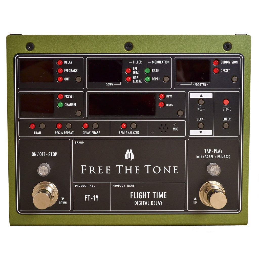 Free The Tone Flight Time FT-1Y - Stomp Box - Free the Tone - Sounds Great Music