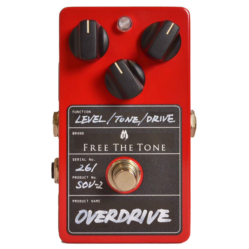 Free the Tone SOV-2 Overdrive - Stomp Box - Free the Tone - Sounds Great Music