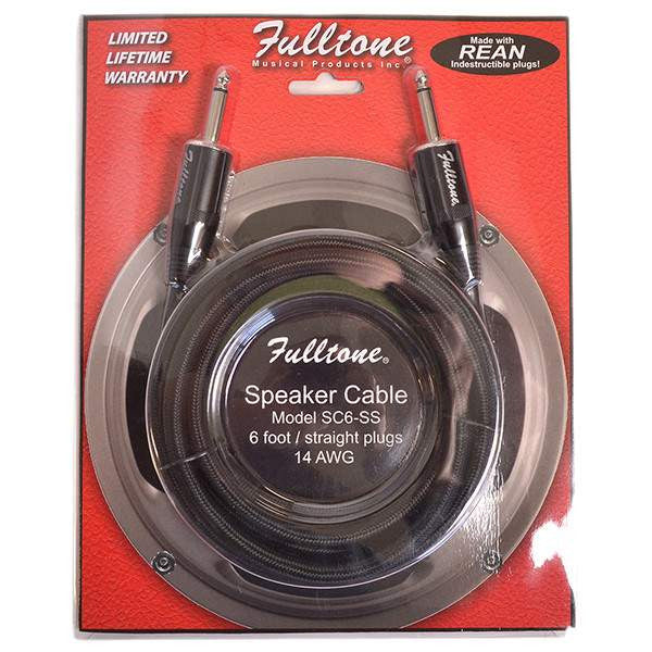 Fulltone Speaker Cable 6 Foot Straight SC6-SS Cable, Fulltone, Sounds Great Music