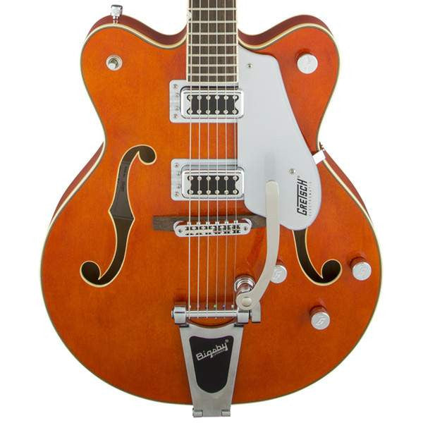 Gretsch G5422T Electromatic Hollow Body Double Cut Bigsby Orange Stain Electric Guitar, Gretsch, Sounds Great Music