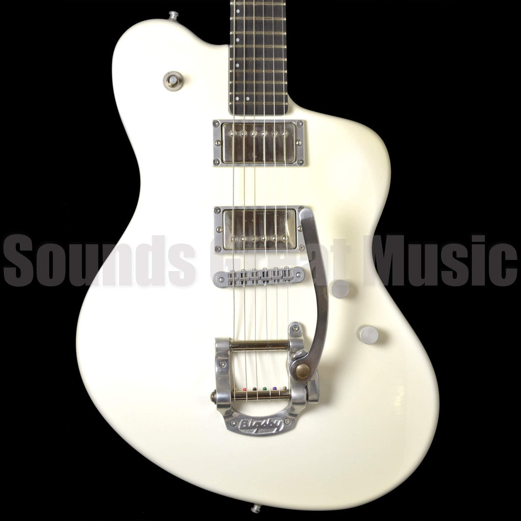 Henman Mod Aki White Second Hand Electric Guitar, Henman Guitars, Sounds Great Music