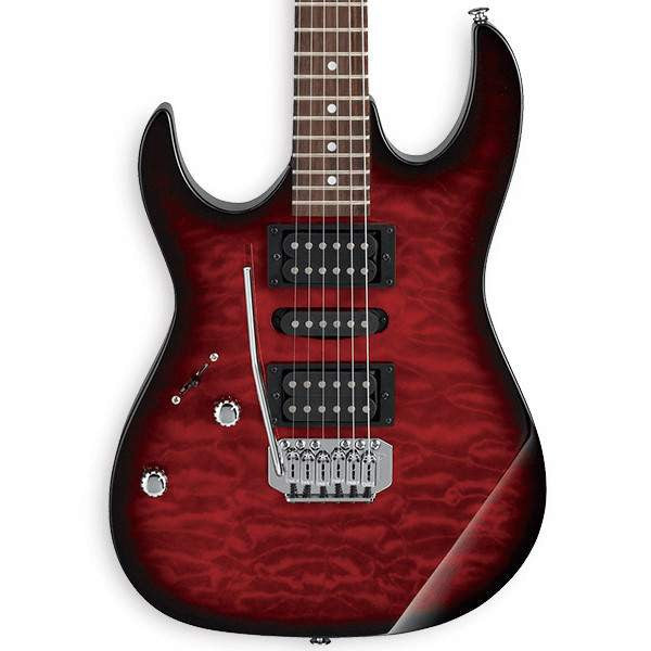 Ibanez GRX70QAL TRB Transparent Red Burst Electric Guitar - Electric Guitar - Ibanez - Sounds Great Music