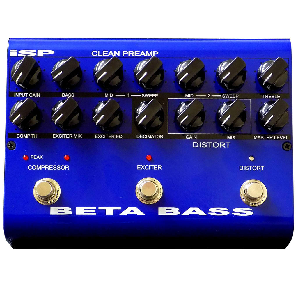 ISP Beta Bass Stomp Box, ISP, Sounds Great Music