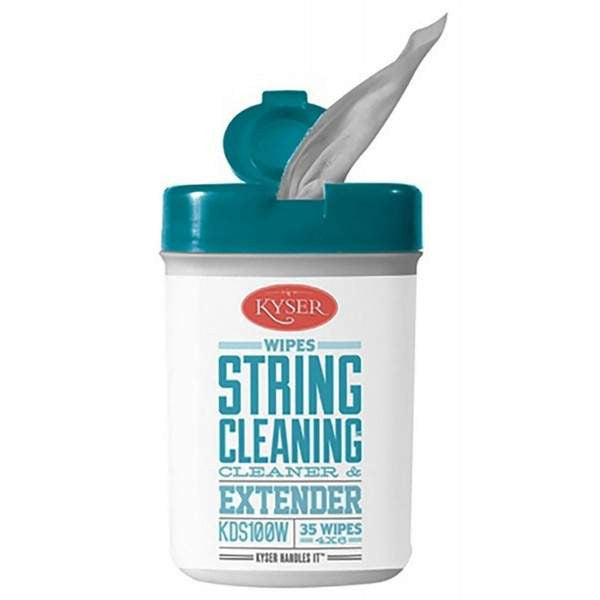 Kyser Care String Cleaner and Lubricant Wipes x35 KDS100W Guitar Care, Kyser, Sounds Great Music