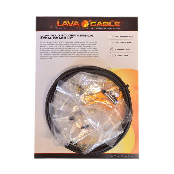 Lava Cable Soldered Kit Right Angle LCPBKTRS Stomp Box, Lava Cable, Sounds Great Music