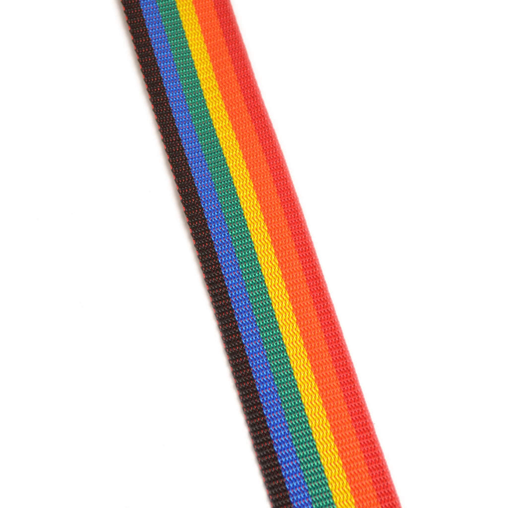 "Leathergraft 2"" Rainbow Webbing Guitar Strap Guitar Straps, Leathergraft, Sounds Great Music"