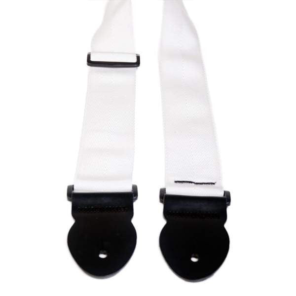 "Leathergraft 2"" White Webbing Guitar Strap Guitar Straps, Leathergraft, Sounds Great Music"