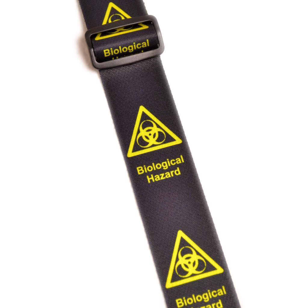 "Leathergraft XL Bio Hazard Black 2"" Guitar Strap - Guitar Straps - Leathergraft - Sounds Great Music"