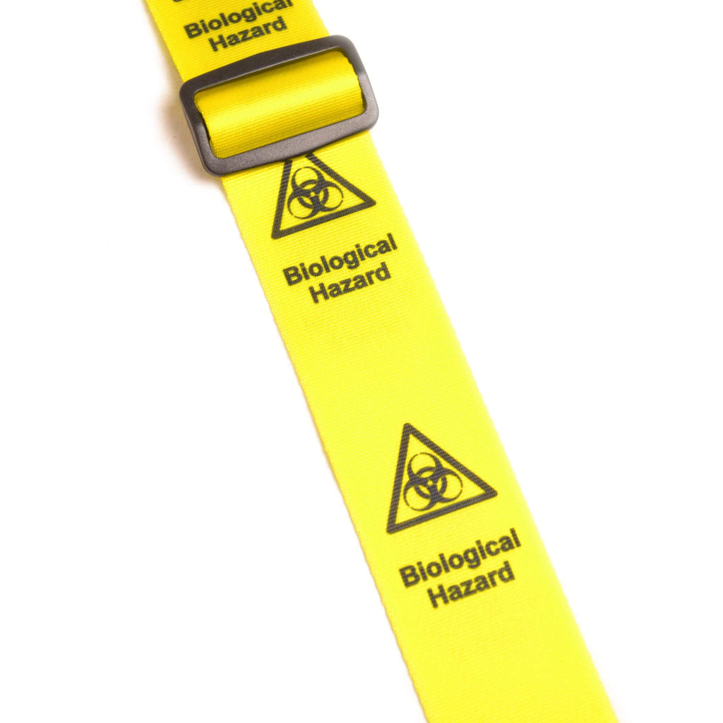 "Leathergraft XL Bio Hazard Yellow 2"" Guitar Strap - Guitar Straps - Leathergraft - Sounds Great Music"