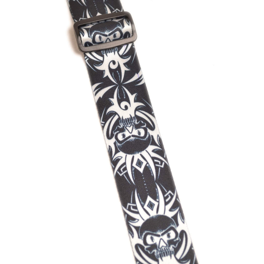 "Leathergraft XL Tribal Skull 2"" Guitar Strap Guitar Straps, Leathergraft, Sounds Great Music"
