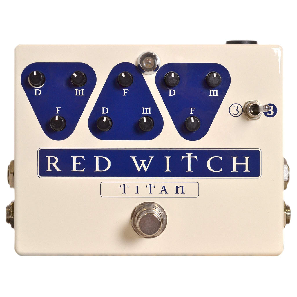 Red Witch Titan Stomp Box, Red Witch, Sounds Great Music