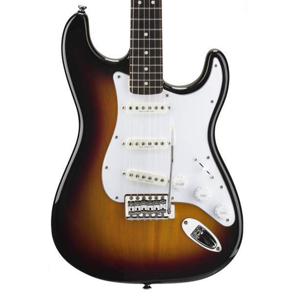 Squier Vintage Modified Stratocaster Rosewood Fingerboard 3-Tone Sunburst Electric Guitar, Squier, Sounds Great Music