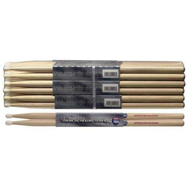 STAGG 1PR.HICKORY STICKS-NYLON SH5BN Drumsticks, Stagg, Sounds Great Music