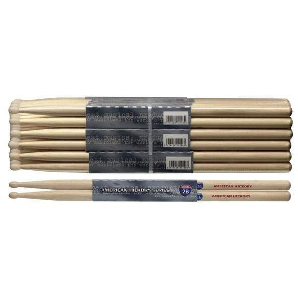 STAGG 1PR.HICKORY STICKS-WOOD /2B SH2B Drumsticks, Stagg, Sounds Great Music