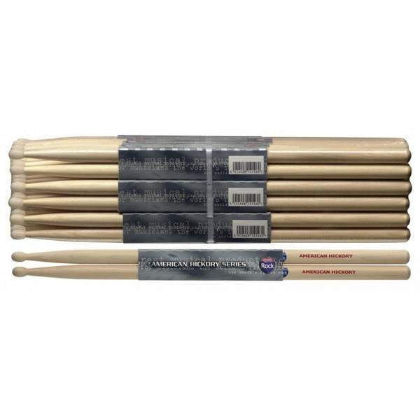 STAGG 1PR.HICKORY STICKS-WOOD /ROCK SHROCK Drumsticks, Stagg, Sounds Great Music