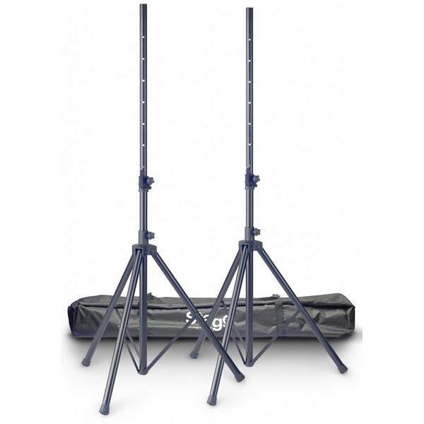 STAGG 2PCS SPEAKR STAND ALU + BAG  SPS10-AL BK SET Speaker Stands, Stagg, Sounds Great Music