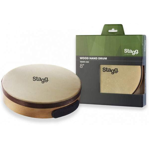 "STAGG 8"" PRETUNED HAND DRUM WOOD TAWH-080 - Education & Hand Percussion - Stagg - Sounds Great Music"