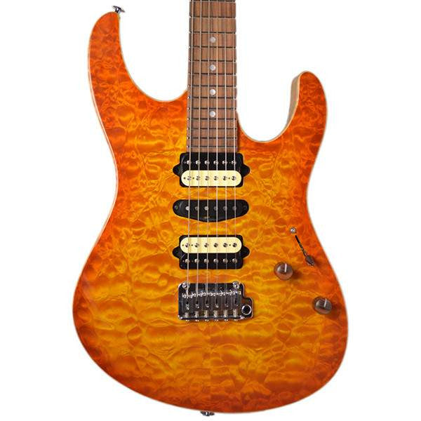 Suhr Korina Quilt Honey Amber Burst #20026 Electric Guitar - Electric Guitar - Suhr Past Orders - Sounds Great Music