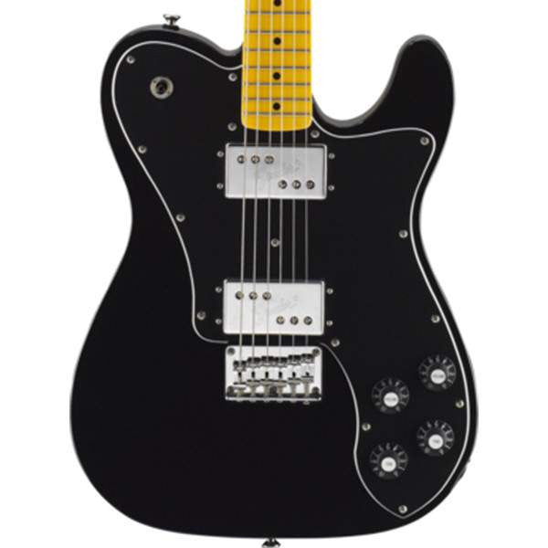 Vintage Modified Telecaster Deluxe, Maple Fingerboard, Black Electric Guitar - Electric Guitar - Squier - Sounds Great Music