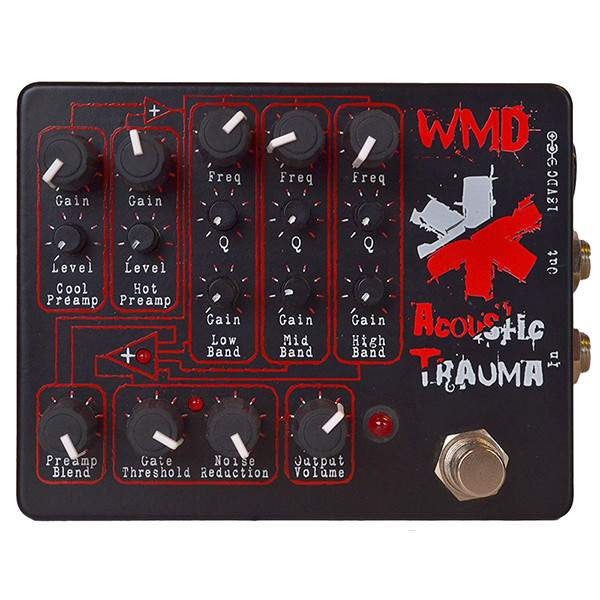 WMD Acoustic Trauma Stomp Box, WMD, Sounds Great Music