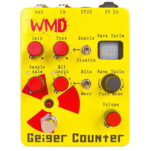 WMD Geiger Counter Stomp Box, WMD, Sounds Great Music