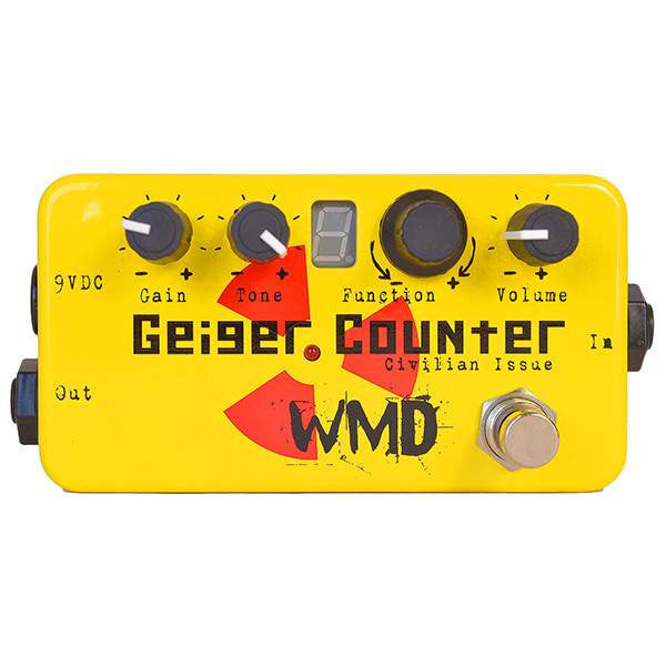 WMD Geiger Counter Civilian Issue Stomp Box, WMD, Sounds Great Music