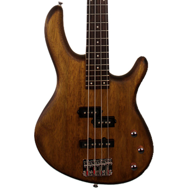 Cort Action PJ Open Pore Walnut Bass Guitar