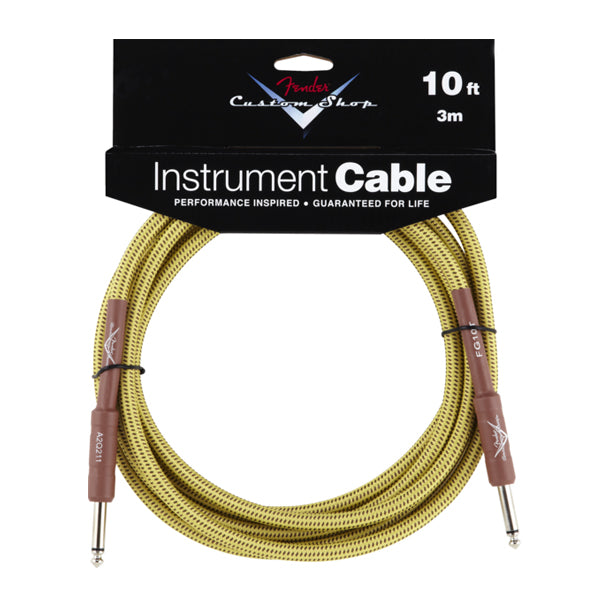 Fender Custom Shop Instrument Cable 10ft Straight Tweed FG10T