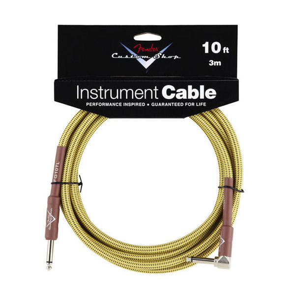 Fender Custom Shop Instrument Cable 10ft Angled Tweed FG10TL