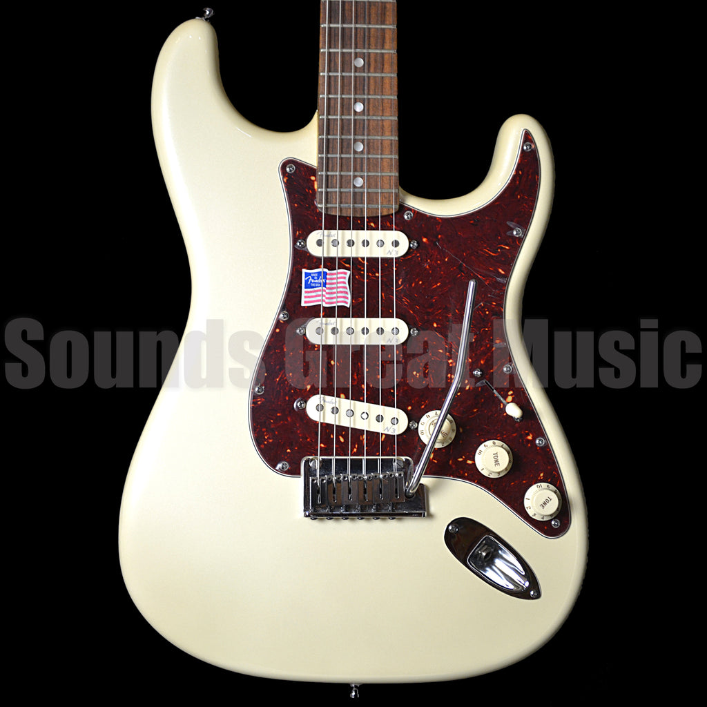 Fender American Deluxe Strat Olympic Pearl Second Hand Electric Guitar
