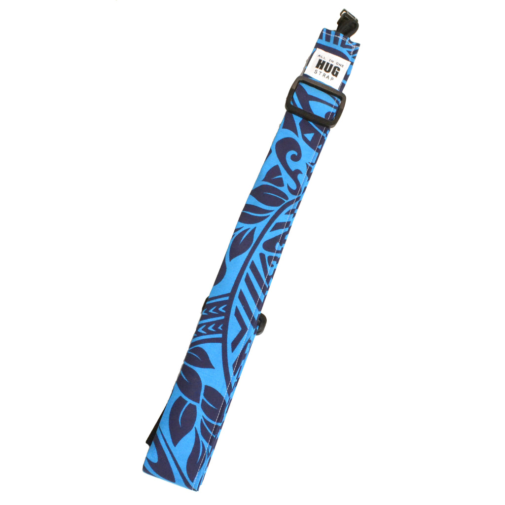 Hug Strap All in One Ukulele Strap Navy and Blue Aztec