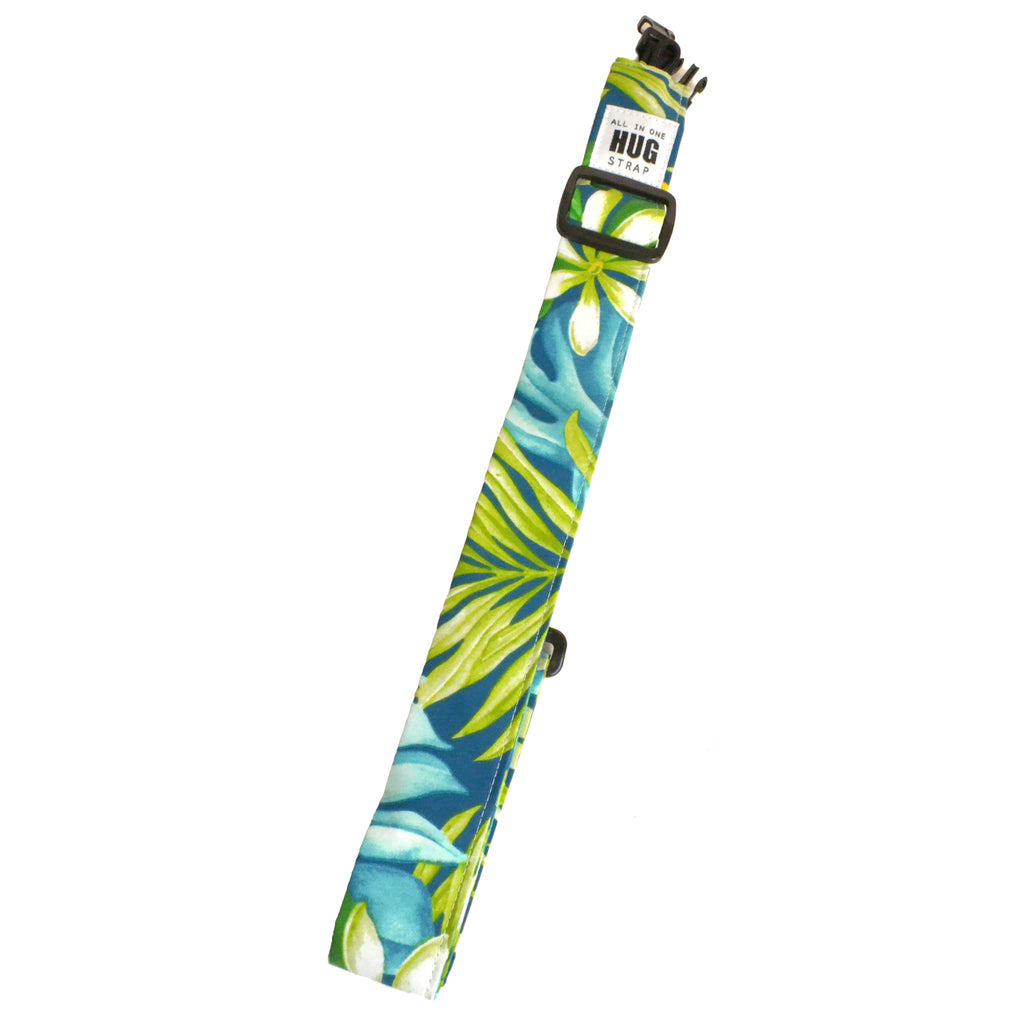 Hug Strap All in One Ukulele Strap Tiare Flowers and Palms