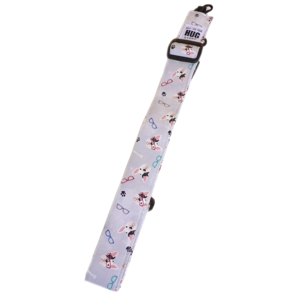 Hug Strap All in One Ukulele Strap French Bulldogs and Glasses