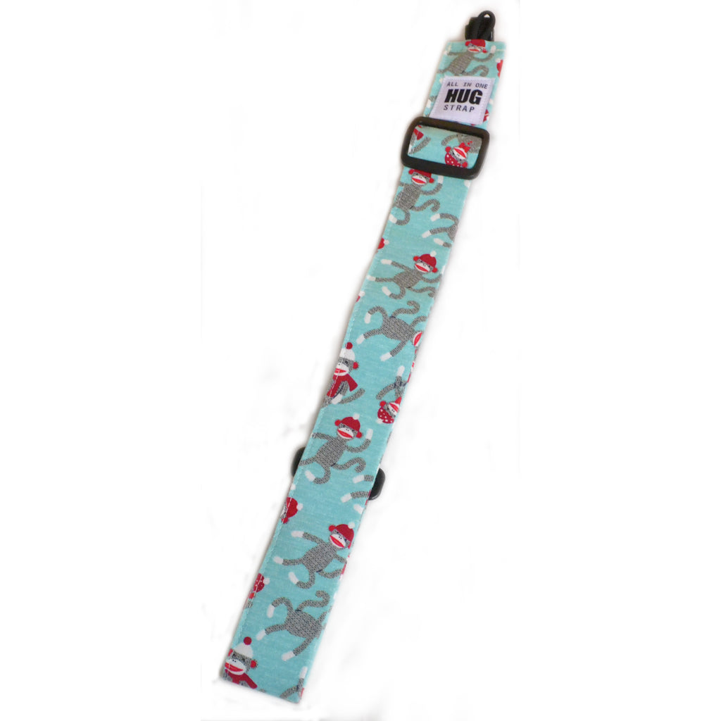 Hug Strap All in One Ukulele Strap Sock Monkeys