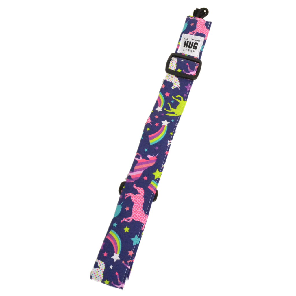 Hug Strap All in One Ukulele Strap Unicorns and Rainbows
