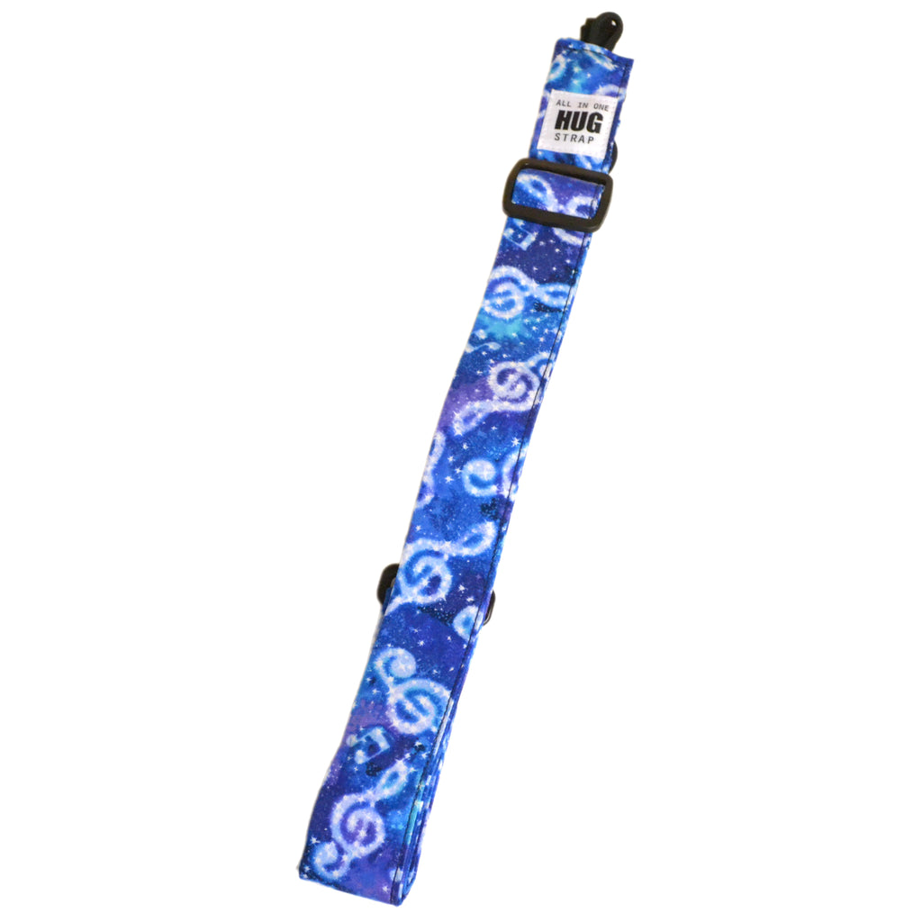 Hug Strap All in One Ukulele Strap Celestial Treble Clefs