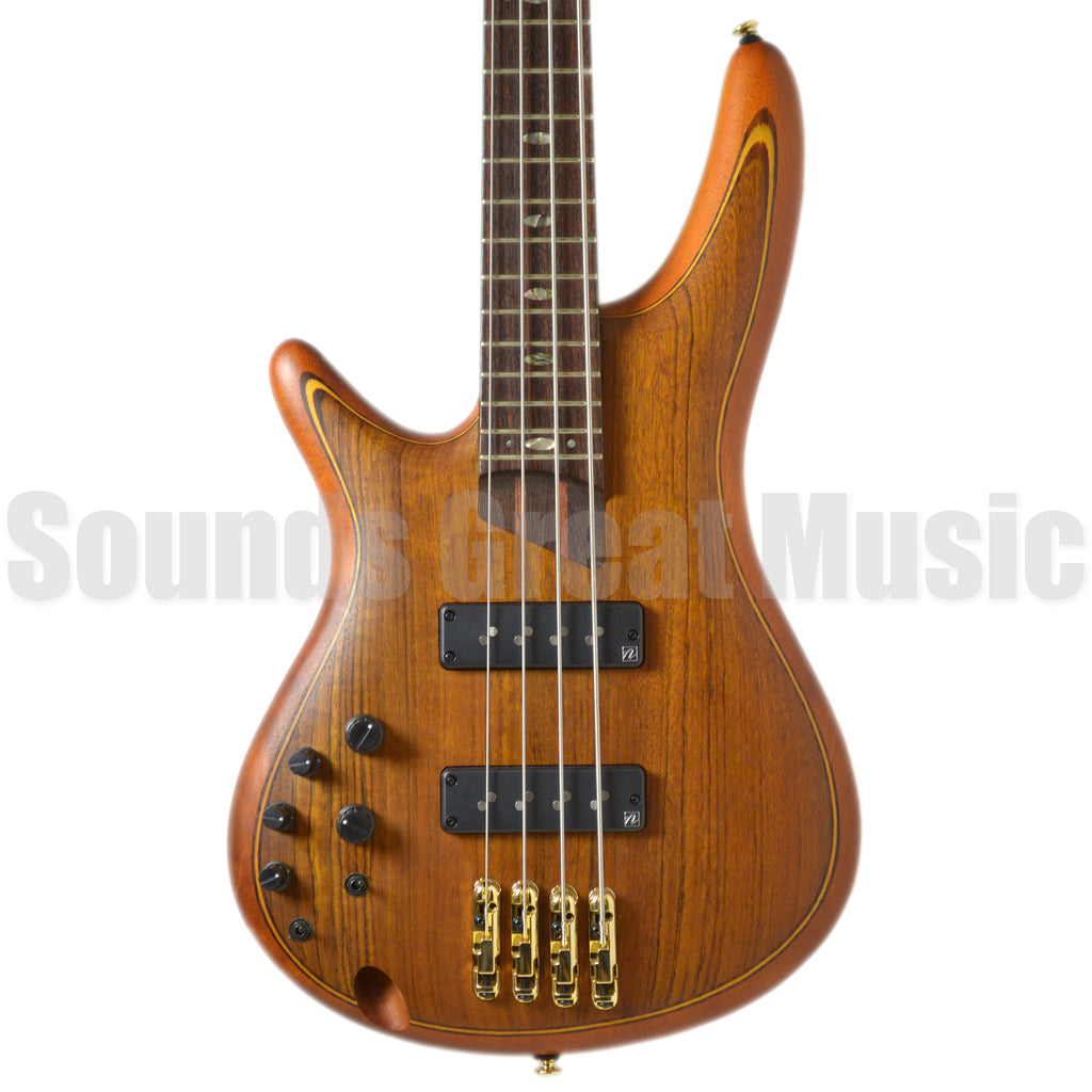 Ibanez SR1200l Vintage Natural Flat Left Hand Second Hand Bass